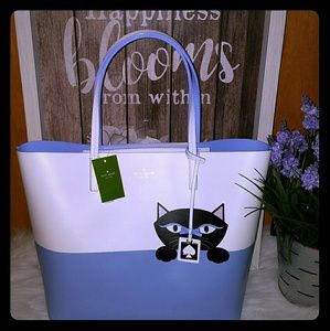 Kate spade little len Cat Tote bag